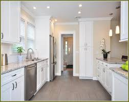 White Shaker Kitchen Cabinets Grey Floor Kitchen