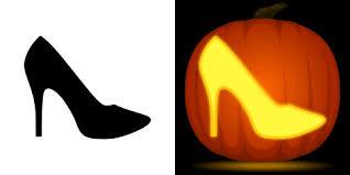 Minecraft Pumpkin Stencils Free Printable by High Heel Pumpkin Carving Stencil Free Pdf Pattern To Download