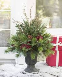Potted Christmas Tree by Artificial Potted Christmas Trees U0026 Topiaries Balsam Hill
