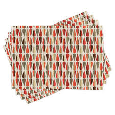 tischdecke waschbare stoff esszimmer küche tischdekorations digitaldruck abakuhaus 4 teilig 4 teilig st set aus 4x geometrisch 70er jahre
