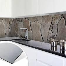 details zu küchenrückwand alu dibond silber mediterrane mauer spritzschutz küche deko