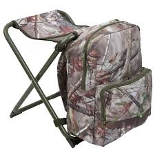 decathlon siege chaise chasse sac à dos camouflage marron solognac
