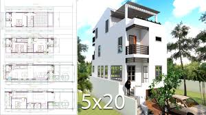 100 Narrow House Designs Elevated Plans For Lots 5x20 Meter SamPhoas Plan