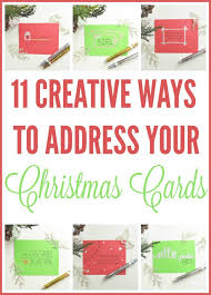 Creative Ways To Address Christmas Cards
