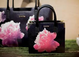 floral handbags from the collection of spring 2016 calvin klein
