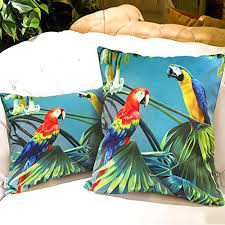 Amazing Throw Pillow Covers Ikea Or New Arrival Rustic Style Soft Velvety Cover Parrot Design