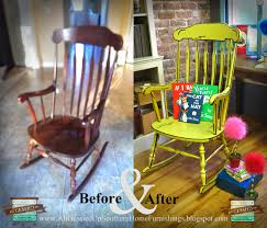 100 Rocking Chair With Books Illustrated 3D Chalk Painted Furniture Flip Looks