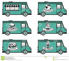 Food Truck Icon Designs Stock Vector. Illustration Of Meal - 60570880