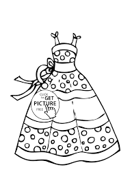Dress Summer Polka Dot Coloring Page For Girls Printable Free