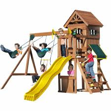 Playsets Swing Sets At Lowes Pics With Fascinating Backyard ... Outdoors Gorilla Swing Sets Playsets Sears Backyard Discovery Weston All Cedar Playset The Home Depot Image Srtspower Timber Play Ii With Balcony Set Amazing For Cool Kids Playground Ideas Ii Playtime Fun For From Somerset Manual Outdoor Decoration Safari Images Wood Pictures Mesmerizing Nice Dazzling Design Of