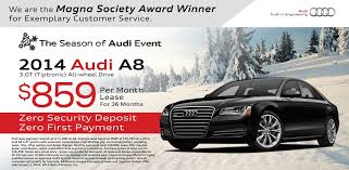 Audi A8 Lease Special