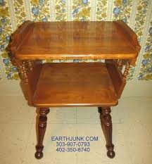 Ethan Allen Bombe Secretary Desk by Desk Ethan Allen Spindle Lamp End Table Heirloom Maple Early