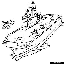 Mistral Amphibious Assault Ship Coloring Page