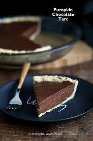 Pumpkin Pie Without Crust And Sugar by Vegan Chocolate Pumpkin Pie With Almond Crust Vegan Richa