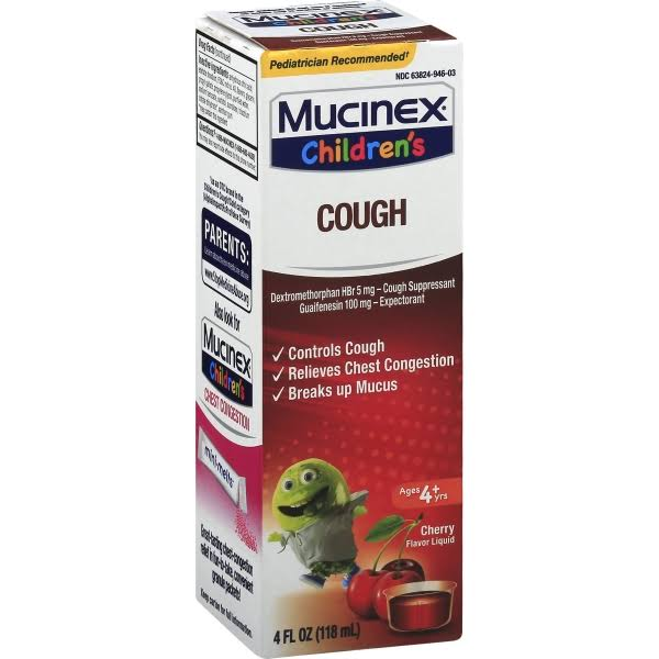 Mucinex Children's Expectorant Cough Suppressant - Cherry, 118ml