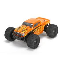 ECX 1/18 Ruckus 4WD Monster Truck RTR, Orange/Yellow | Horizon Hobby