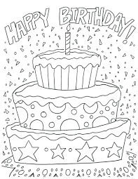Coloring Pages Free Printable Animals Download Print Happy Birthday Page For Dads Adults Full Size