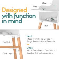 Highchairs Baby High Chair Wooden High Chair With Removable ...