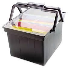 Advantus panion Letter Legal Portable File Storage Box Black