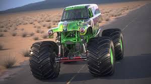 100 Gravedigger Monster Truck Grave Digger Desert Studio 3D Model