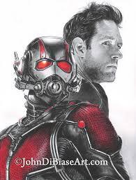 Drawing Print Of Paul Rudd As Scott Lang Ant Man