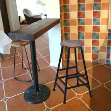 Household Pub Table Bar Stool Bistro Square Leg Dining Kitchen Pub Chair  Furniture Bar Furniture Sets Kitchen Nook Dining Room