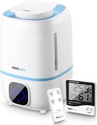 innobeta luftbefeuchter 3 0l ultraschall raumbefeuchter für baby schlafzimmer kinderzimmer wohnzimmer pflanzen humidifier mit hygrometer