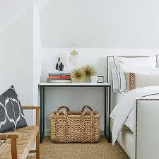 Bamboo Headboard And Footboard by Gray Headboard With Bamboo Nightstand Contemporary Bedroom