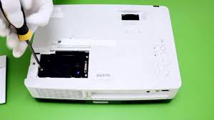 how to replace the projector l for sanyo plc xw300c