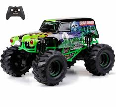 New Bright 1:10 RC Radio Control 9.6V Monster Jam Grave Digger Truck ... New Bright Rc Radio Control Monster Jam Truck Mutt Amazoncom Ff Bursts Grave Digger 115 Full Function Dragon Green 61030dr 114 Silverado Walmart Canada Buy Zombie 2015 Bright Rc Monster Truck Remote Toys Compare Prices 4x4 Mini Car 16 Vw Transformed To Rcu Forums Goes Brushless With The Frenzy Newb 18 Scale 4 X Mega Blast Red Black Chrome Commercial 2016 96v 110