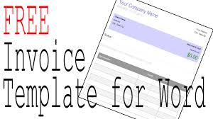 Free Invoice Template Word and fice patible Software Manage