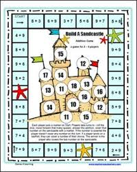 Build A Sandcastle Addition Board Game By Games 4 LearningThis Math Practices