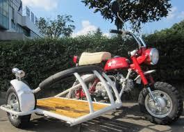 110cc 4 Stroke Retro Motor Bike With Cargo Sidecar