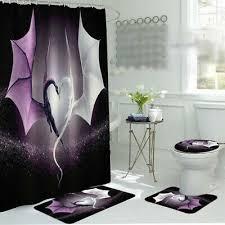 shower bathtub accessories herbst duschvorhang wald hirsch