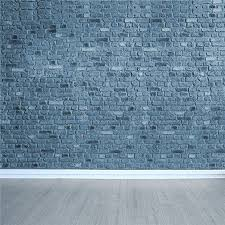 10x10ft 3x3m Vintage Brick Wall Photography Backdrops Light Grey Wood Floor Background For Photo Studio