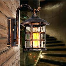 Marvelous Rustic Outdoor Lighting Country Style Wall Sconce Lamp Retro Courtyard Light For Bar Coffee