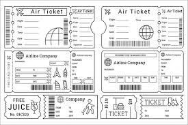 Printable Ticket Templates For Cinema Zoopark Airline