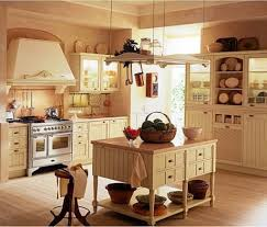 Old Country Kitchen Decor With Hanging Items And Antique Stuff For Chic Look