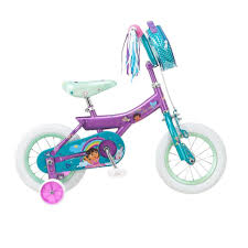 Dora The Explorer Kitchen Set Walmart by Girls 12 Inch Dora The Explorer Bike Purple And Teal Toys