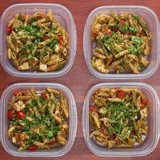 Meal Prep Pesto Chicken Pasta Recipe By Tasty