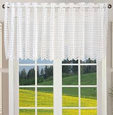 Amazon Lace Kitchen Curtains by Sheer Cafe Curtains Amazon Com