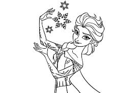 Elsa Queen Colouring Page For Kids