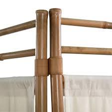 vidaxl 3 teiliger faltbarer raumteiler bambus und leinwand 120 cm