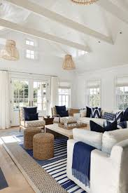 Nautical Style Living Room Furniture by Coastal Style Furniture Blue Sofa White Surrounds Fireplace Mantel