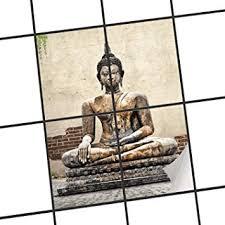 fliesenaufkleber fliesenbild fliesen wellness buddha deko