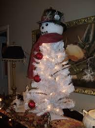 Frosty Snowman Christmas Tree Topper by White Snowman Xmas Tree 1808