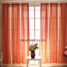Fabric For Curtains Cheap by Dark Orange Linen Fabric Well Selected Concise Modern Curtain Buy