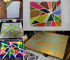 DIY Geometric Tape Painting Pictures Photos And Images For Facebook Tumblr Pinterest