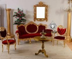 sofa recamiere rococo gold rot