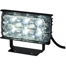 MAXXIMA Rectangular 6 LED Work Light, Black Frame, 3-3/16